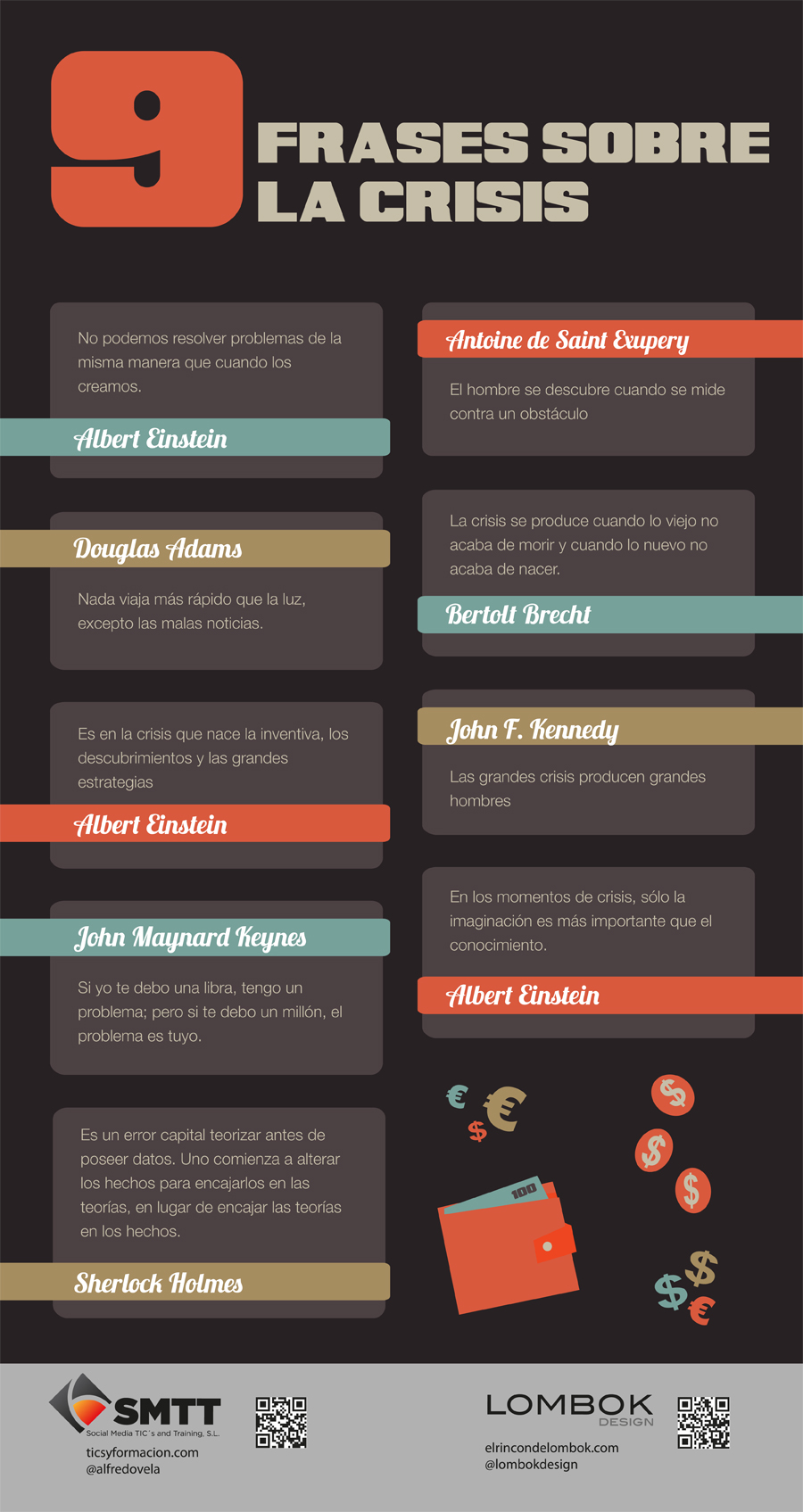 9 Frases Célebres Sobre Crisis Infografia Infographic