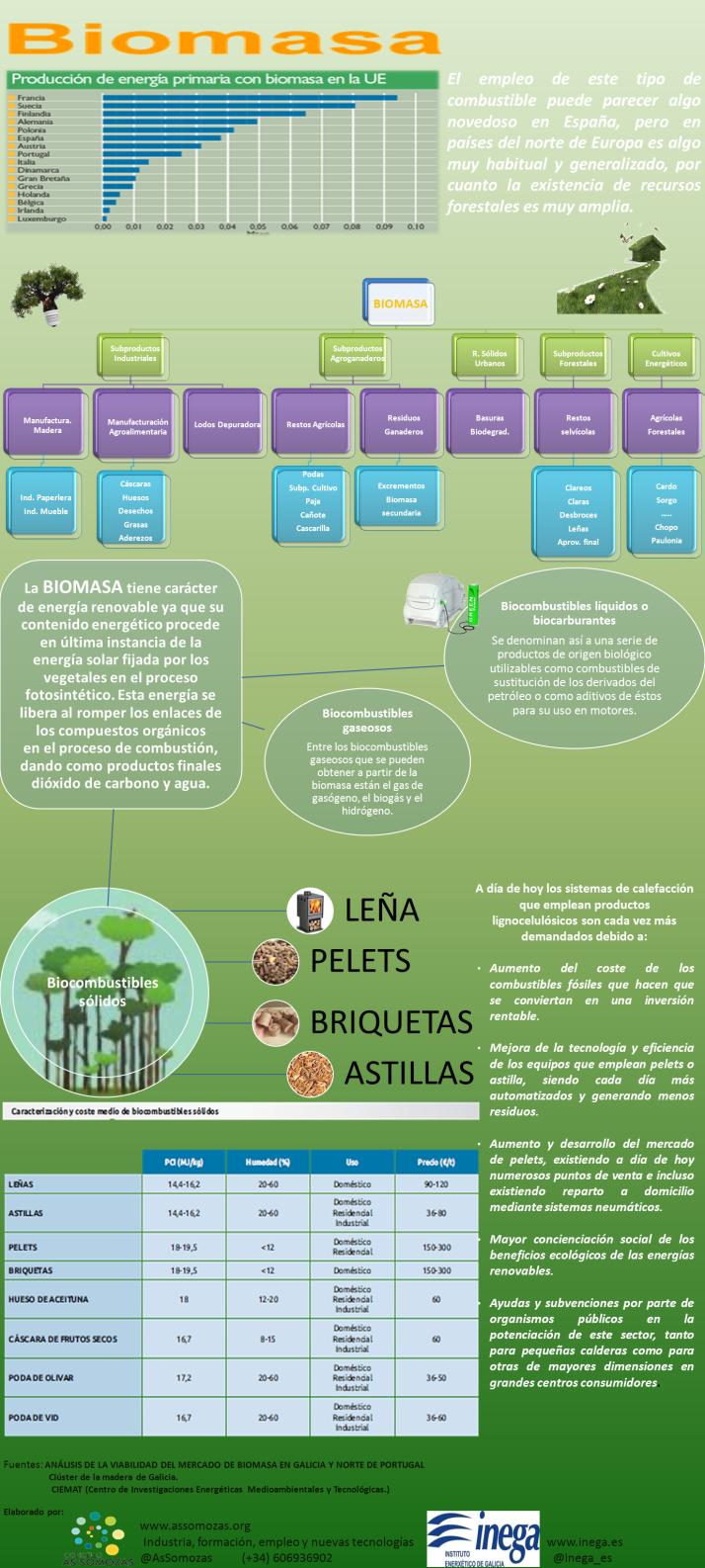 Biomasa - infografía