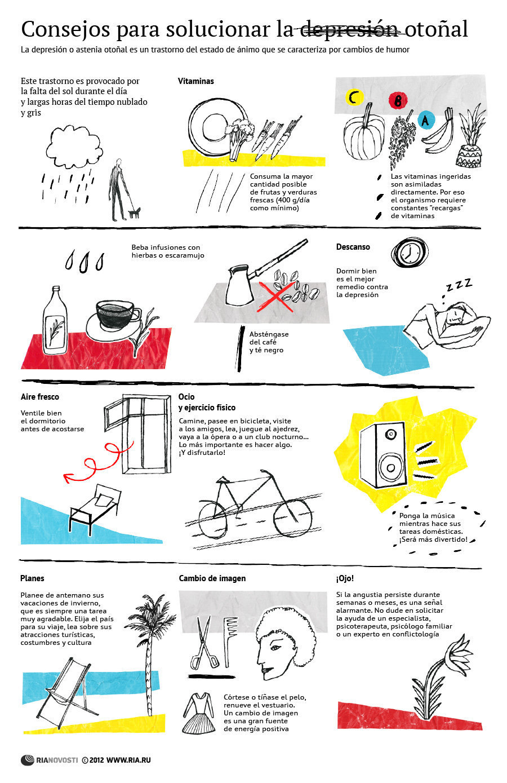 C mo superar la depresi n oto al infografia infographic - Consejos para superar la depresion ...