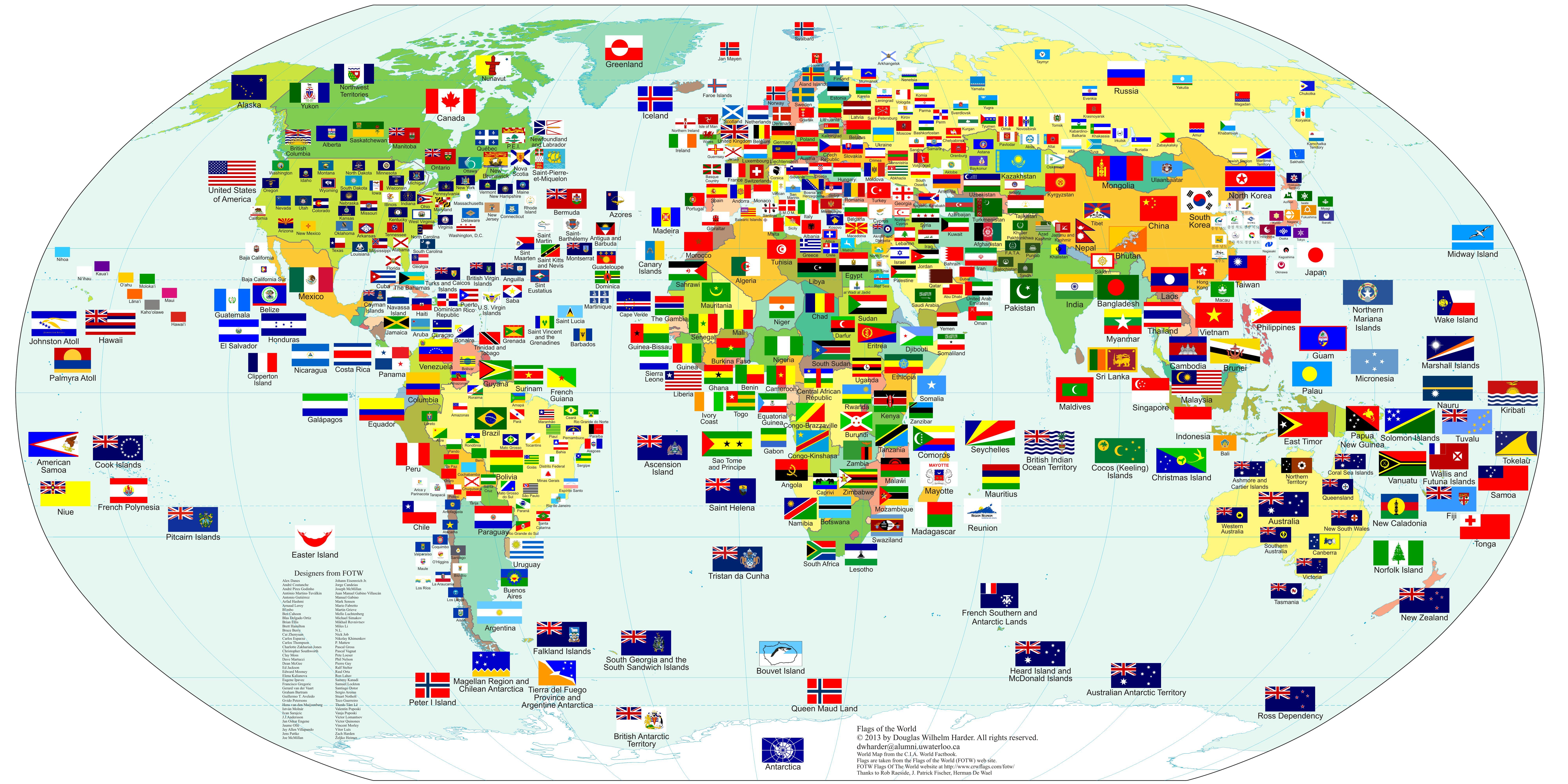 Todas las banderas del Mundo 2013 #infografia #infographic