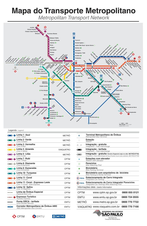 Plano Metro Sao Paulo / Sao Paulo subway