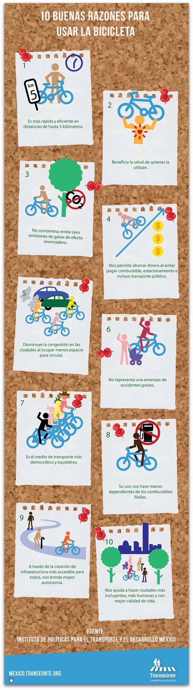 10 buenas razones para usar la bicicleta