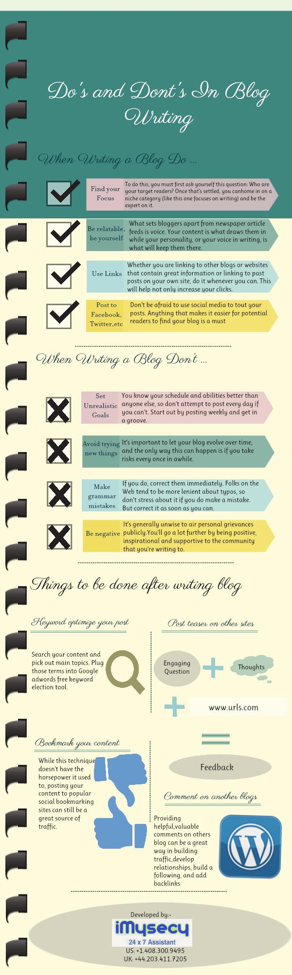 Qué hacer y que no al escribir contenido para tu blog
