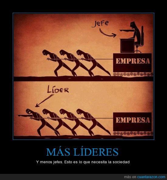 Líder versus jefe