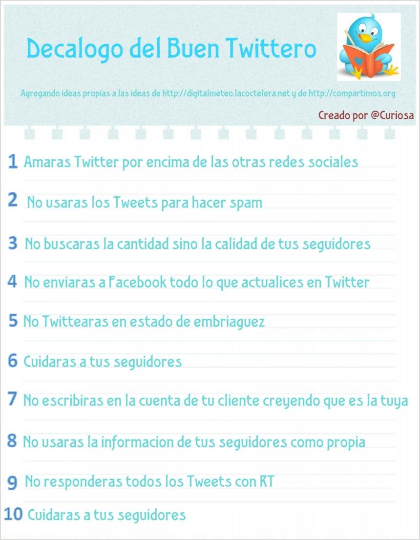 Decálogo del buen Tuitero