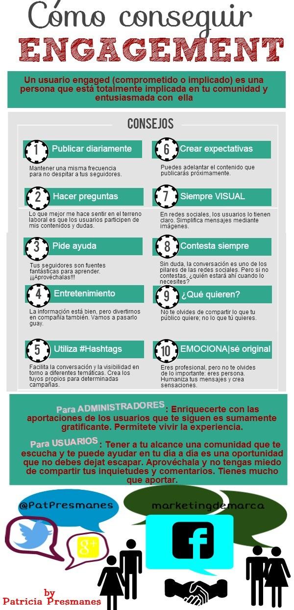 10 consejos para aumentar en engagement en Redes Sociales