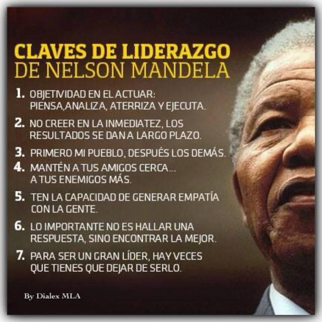 7 claves de liderazgo de Nelson Mandela