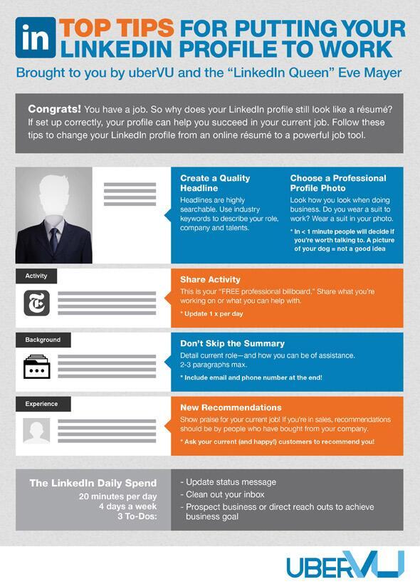 Consejos para poner tu perfil de Linkedin a trabajar