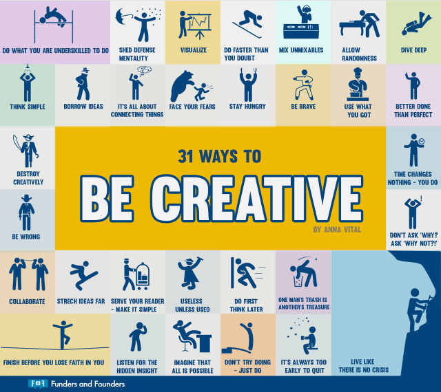31 maneras de ser creativo