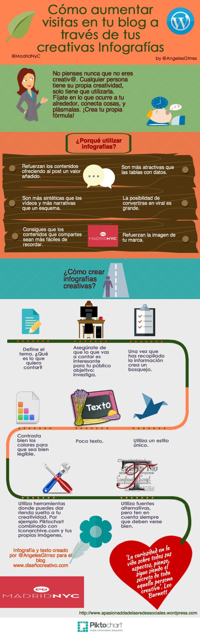 Cómo aumentar visitas en tu blog a través de creativas Infografías