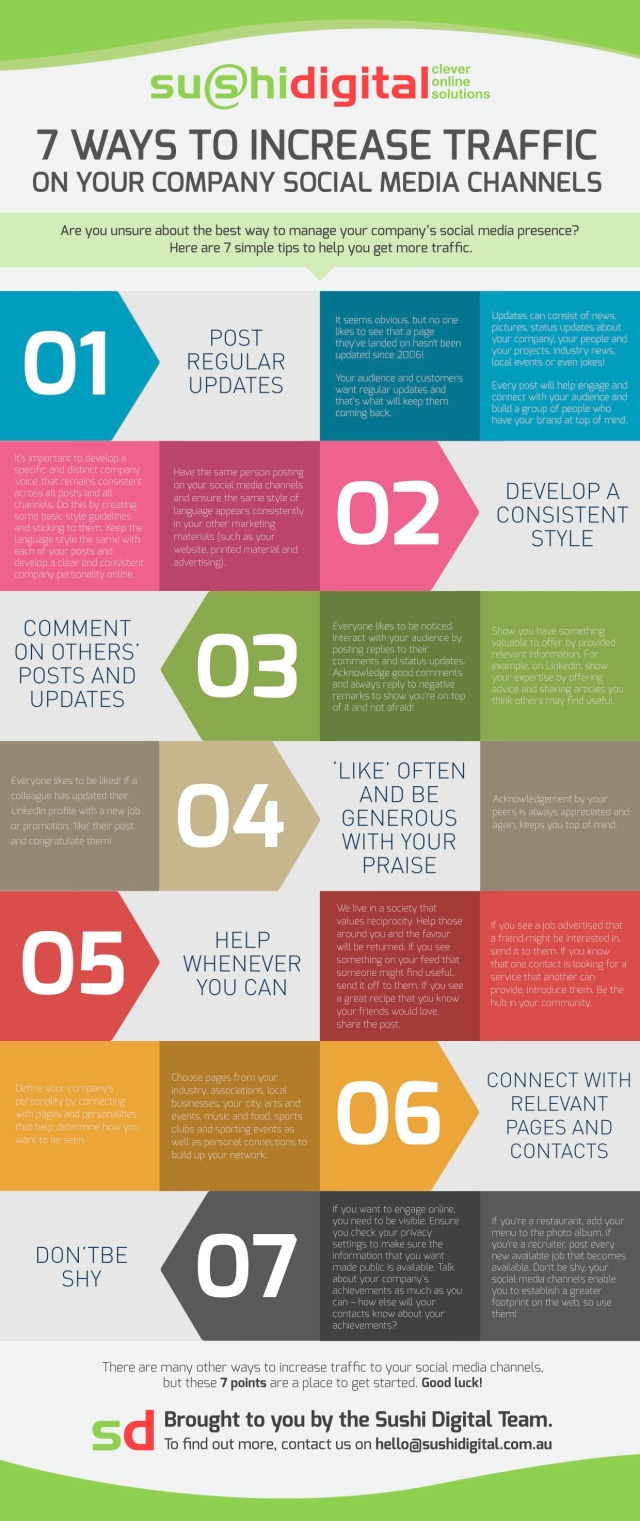 7 formas de aumentar tráfico en tus Redes Sociales