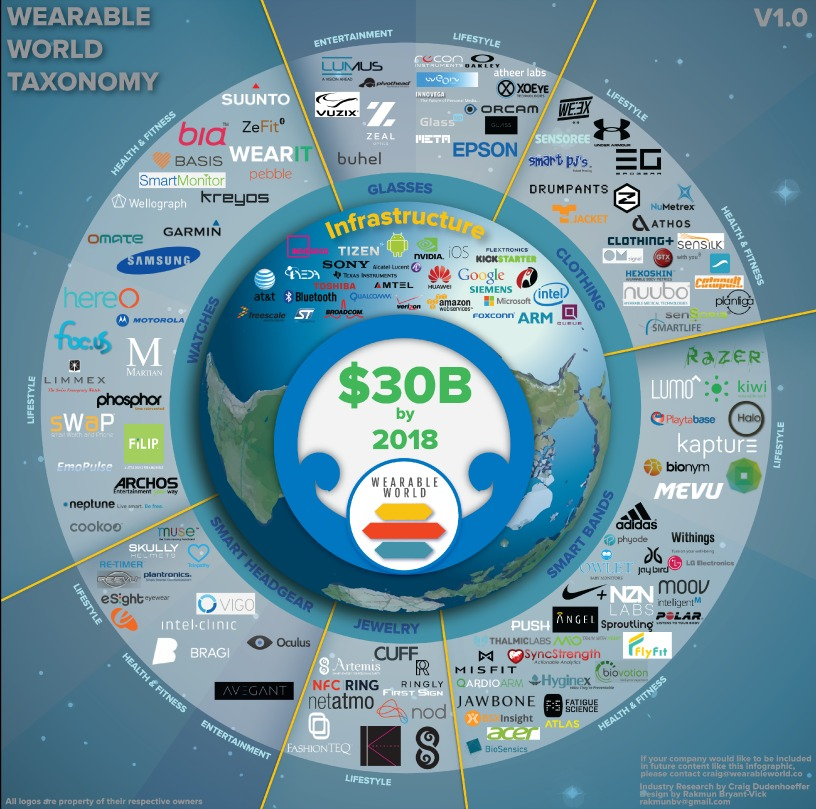El ecosistema wearable en 2014