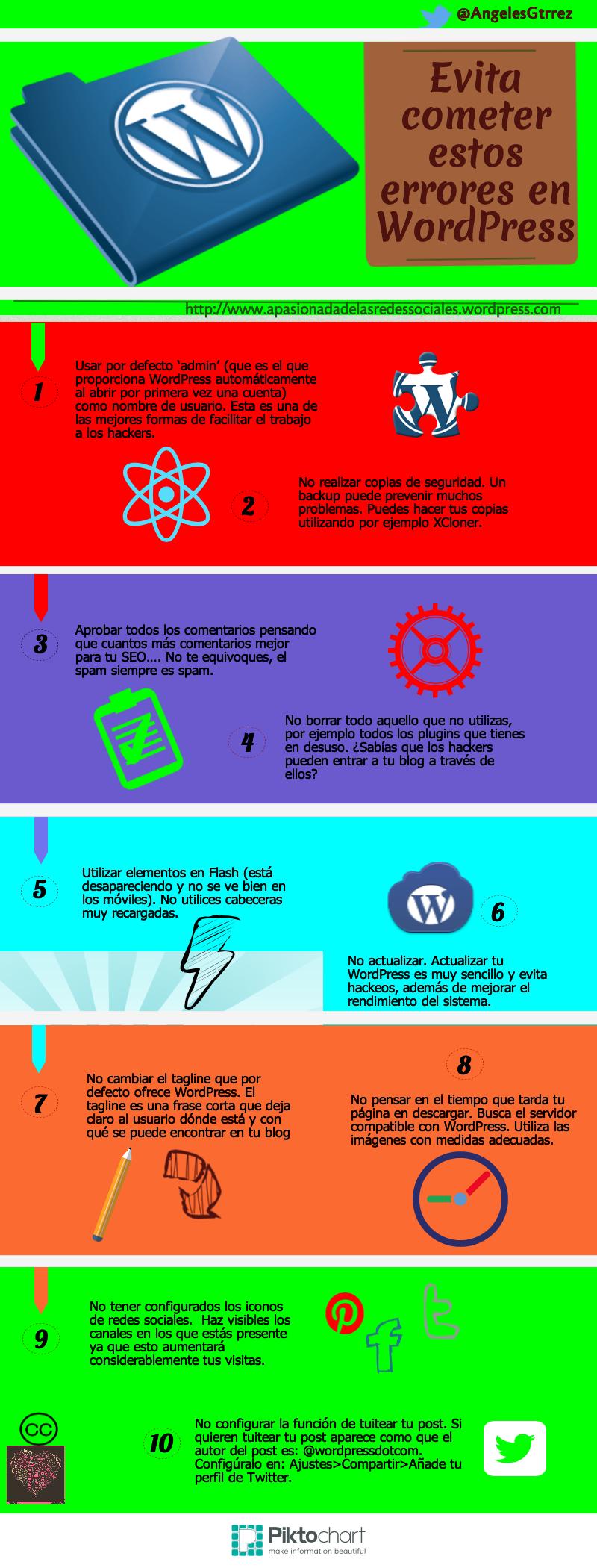 Evita cometer estos errores en WordPress