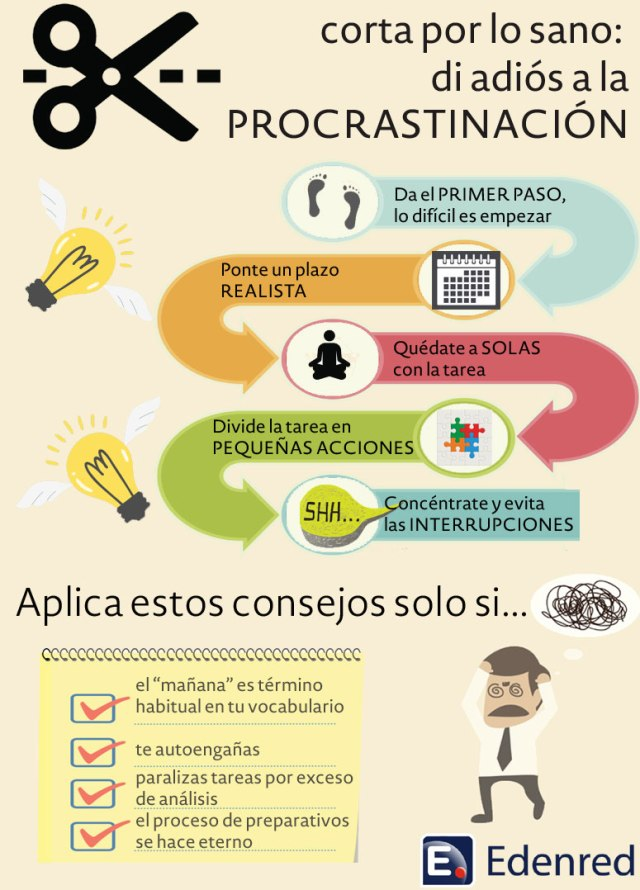 Di adiós a la procrastinación