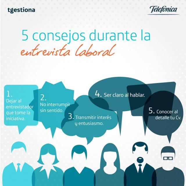 5 consejos para la entrevista de trabajo