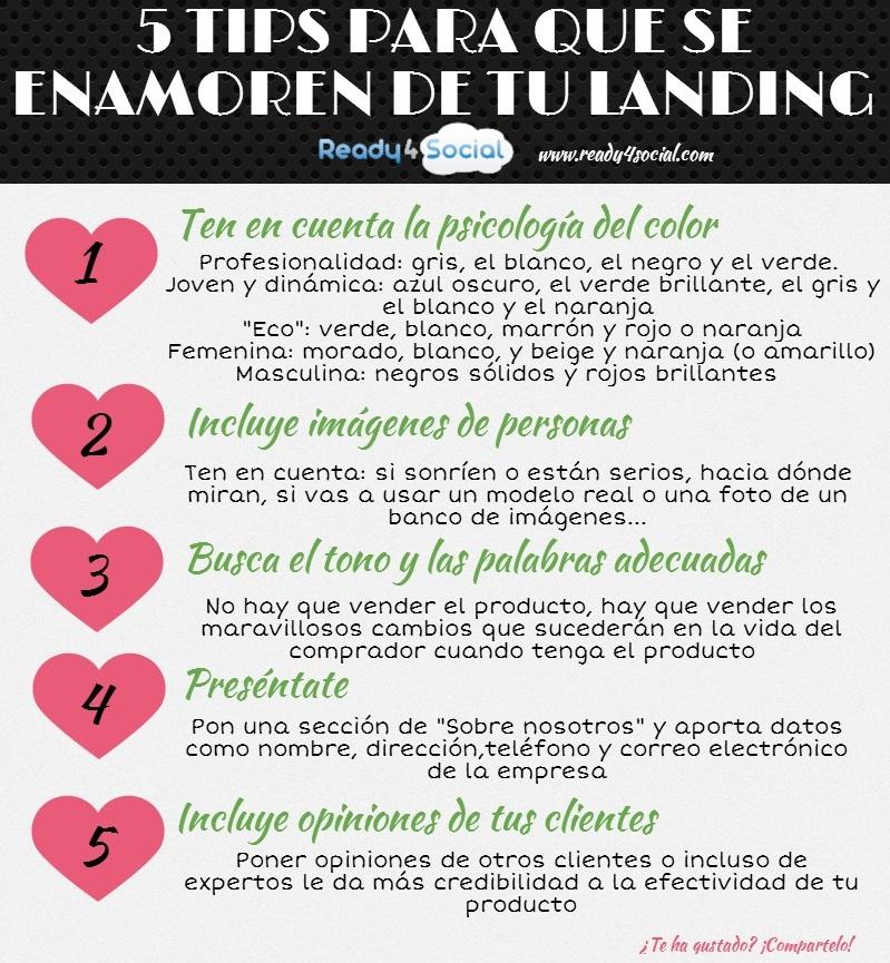 5 trucos para que se enamoren de tu landing Page