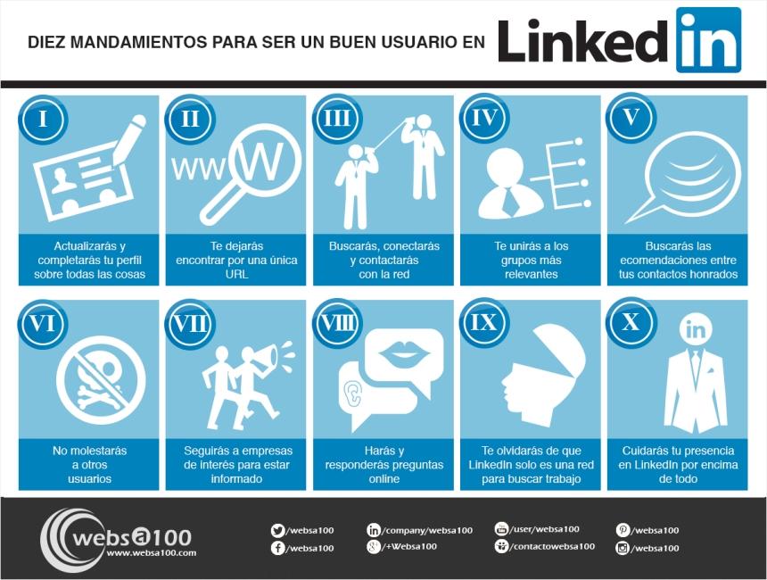 10 mandamientos para ser buen usuario de Linkedin