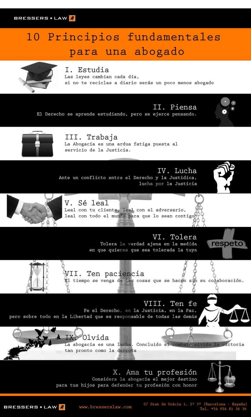 10 principios fundamentales para un abogado