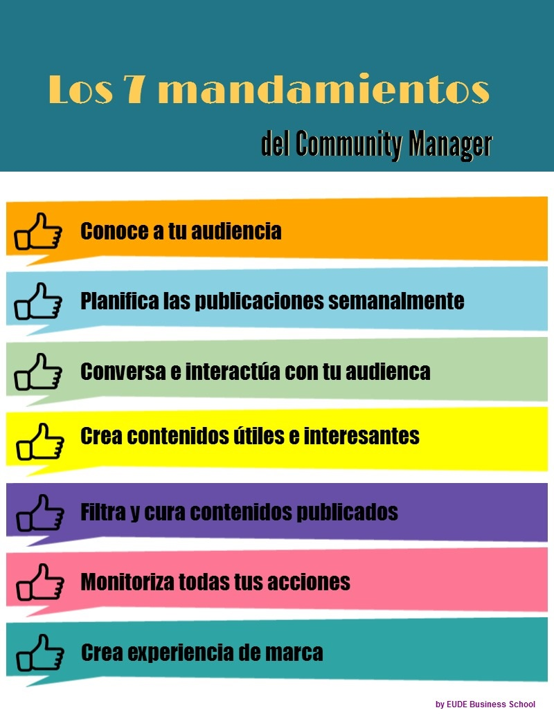 Los 7 mandamientos del Community Manager