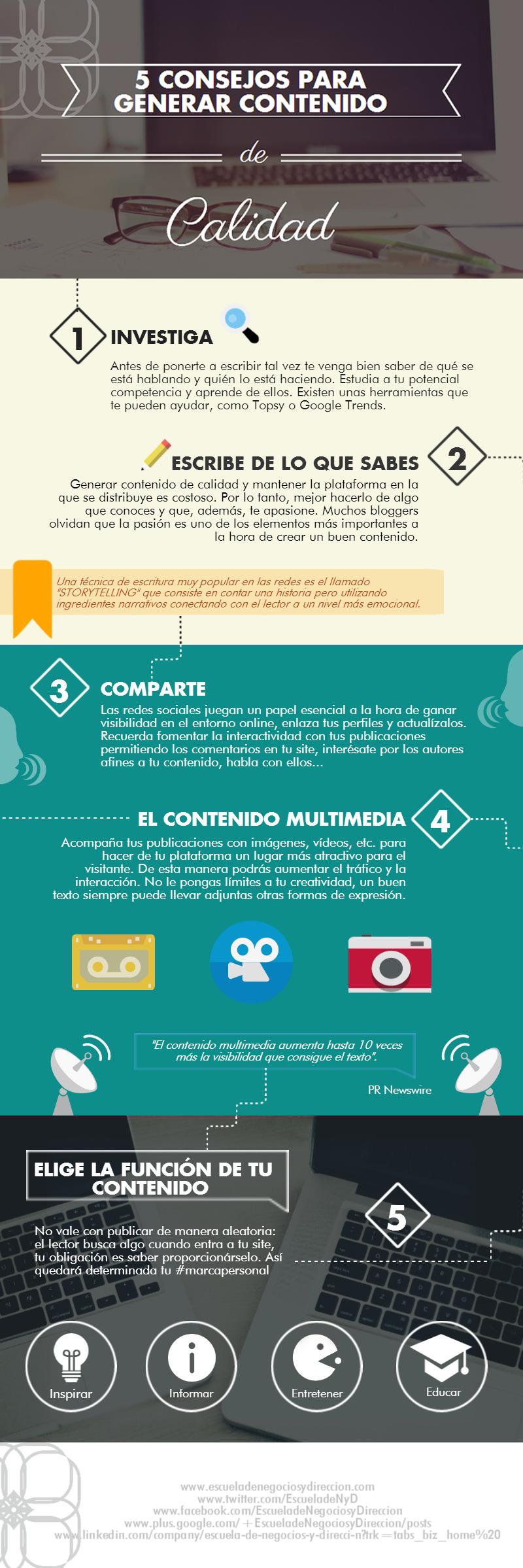 5 consejos para crear contenido de calidad