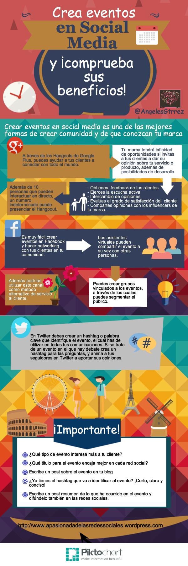 Crea eventos en Redes Sociales y comprueba sus beneficios