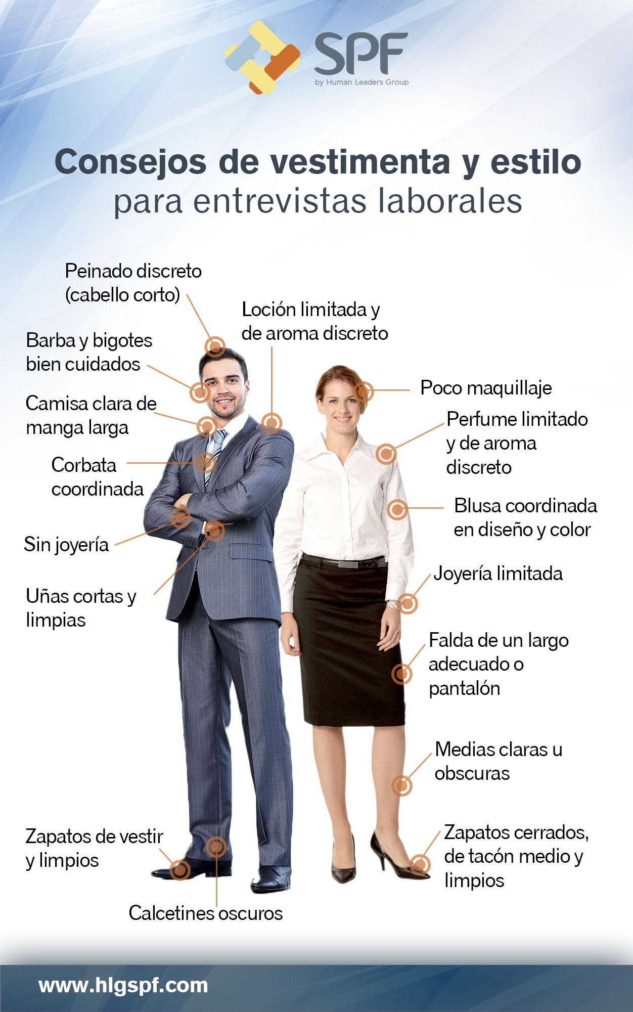 C mo vestir para una entrevista de trabajo infografia for Como es una oficina