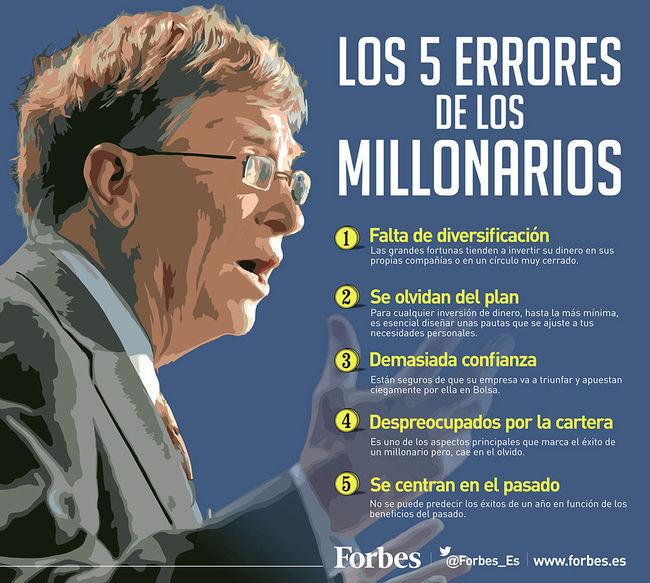 Los 5 errores de los millonarios