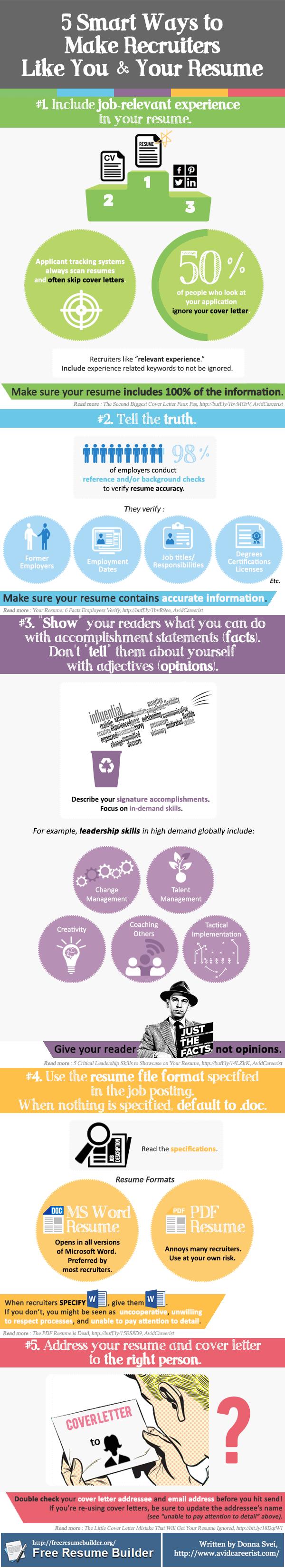 5 maneras inteligentes de que les guste tu curriculum a los reclutadores