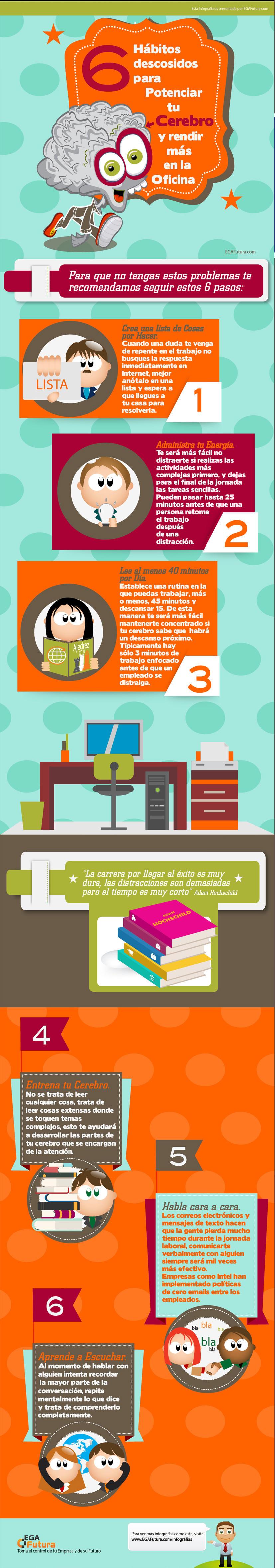 6 hábitos para potenciar tu cerebro y rendir más