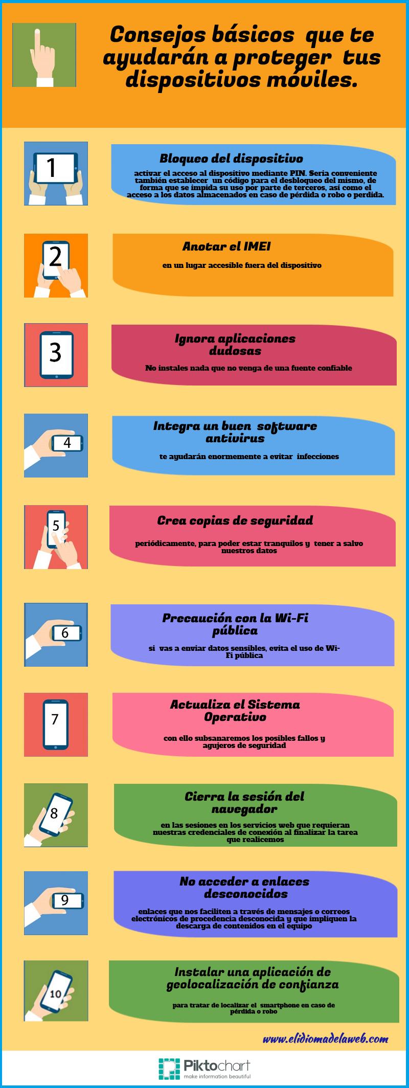 10 consejos para proteger tus dispositivos móviles