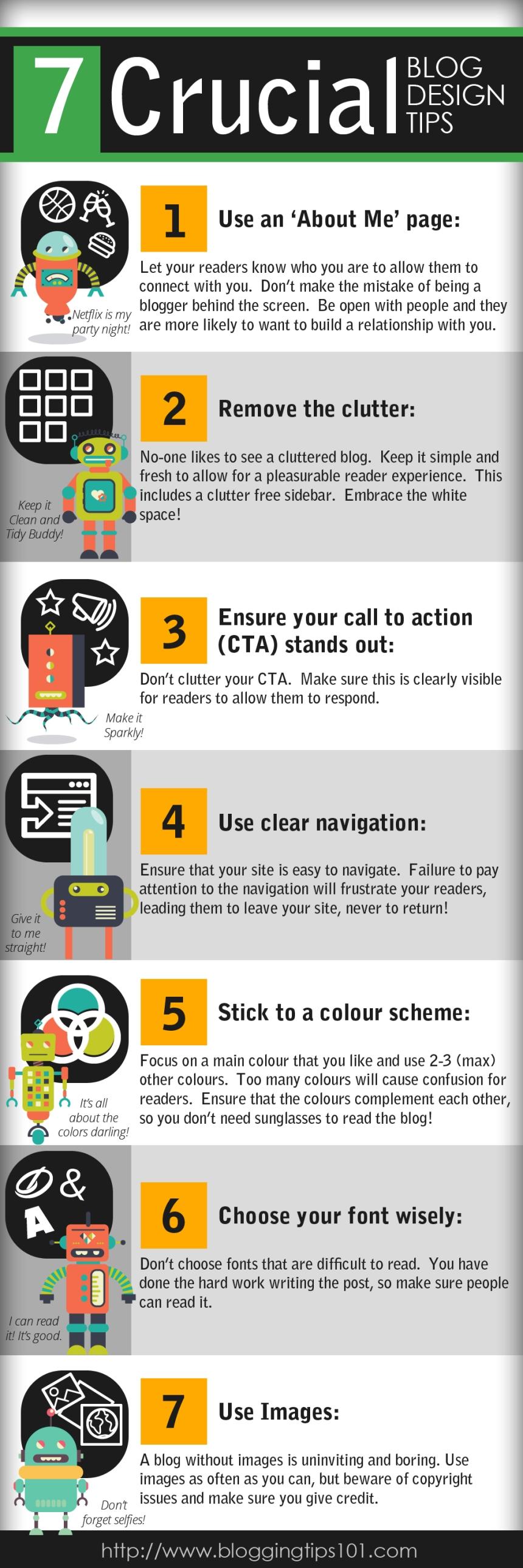 7 consejos cruciales sobre diseño para tu blog