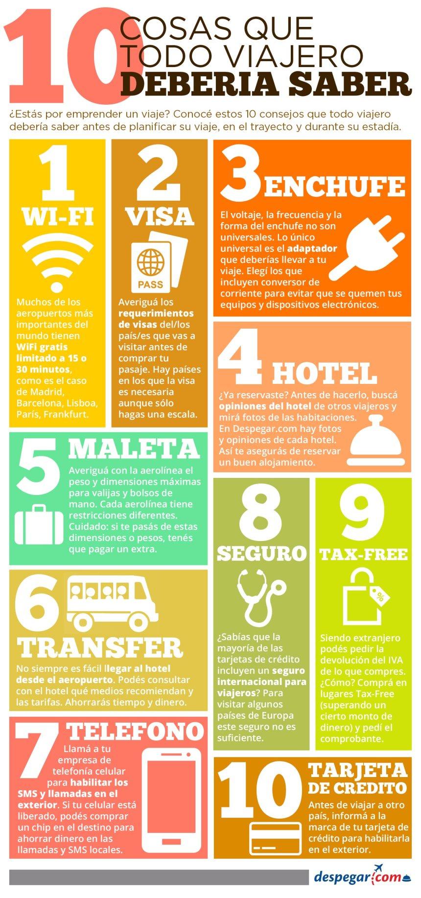 10 cosas que un viajero debe saber antes de viajar