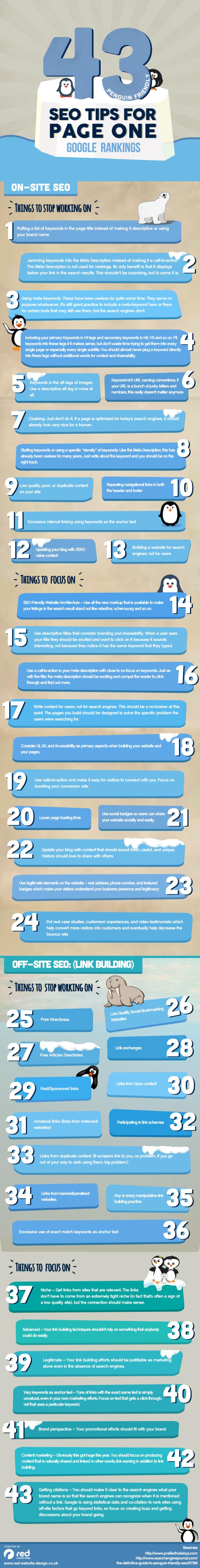 43 consejos SEO