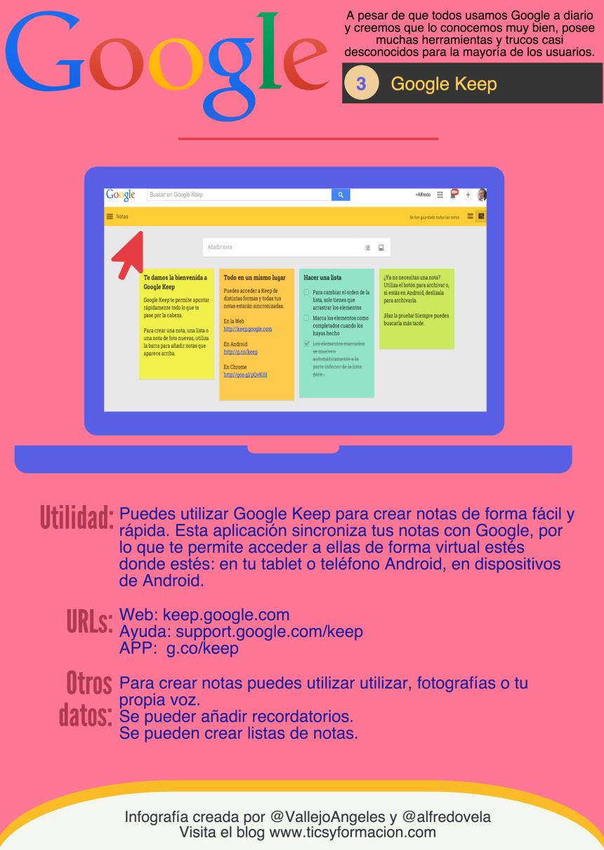 Servicios Google: 03 - Google Keep