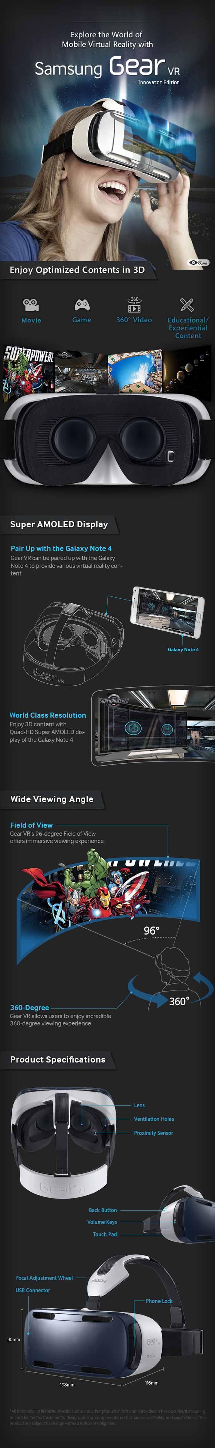 Samsung Galaxy Gear VR (Realidad Virtual)