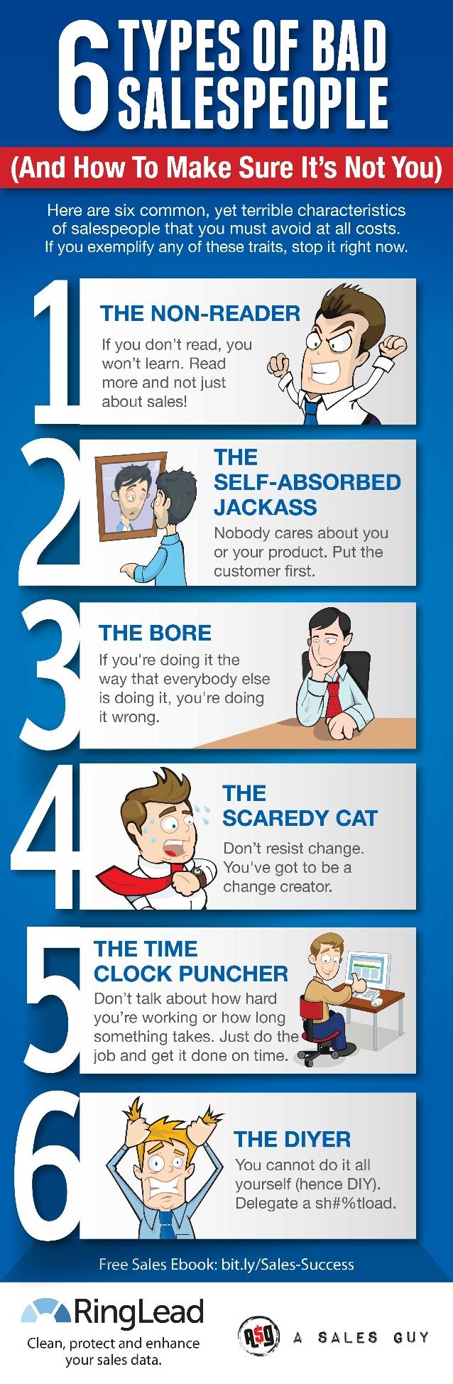 6 tipos de malos vendedores