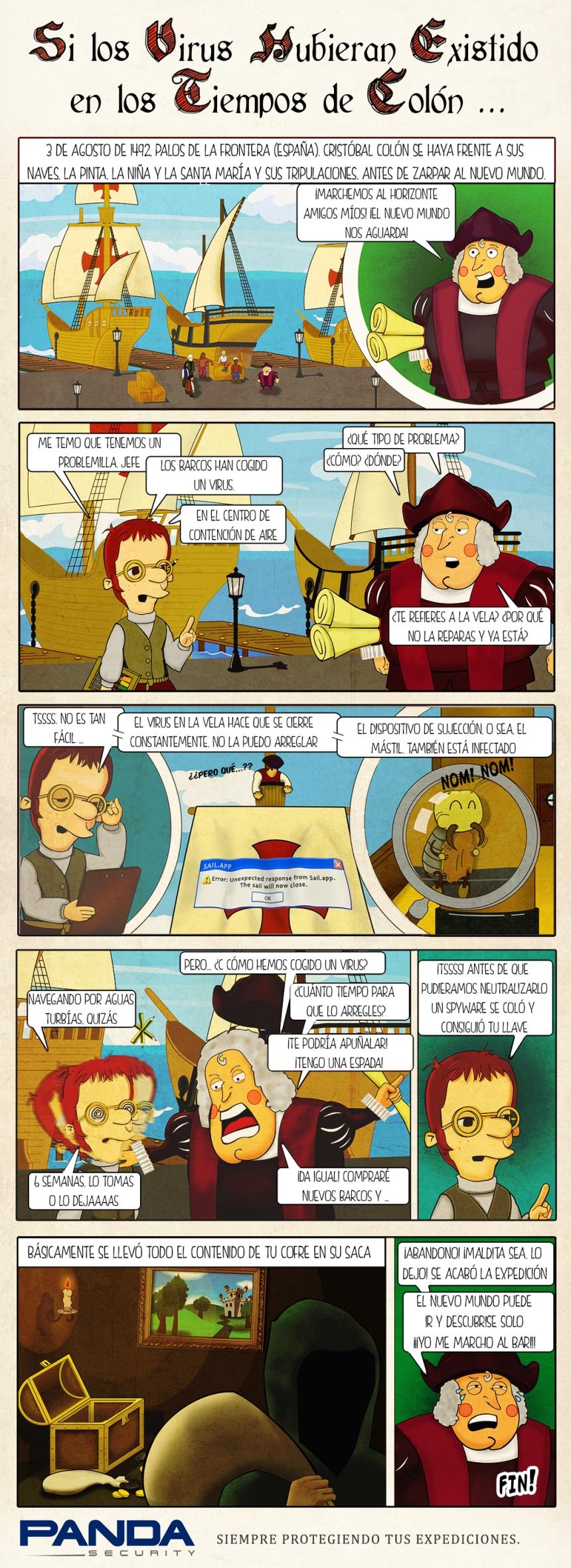 Virus informáticos en época de Colón