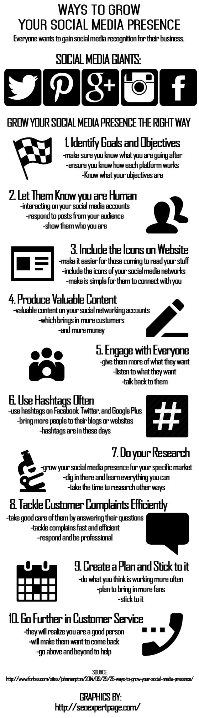 10 formas de crecer tu presencia en Redes Sociales