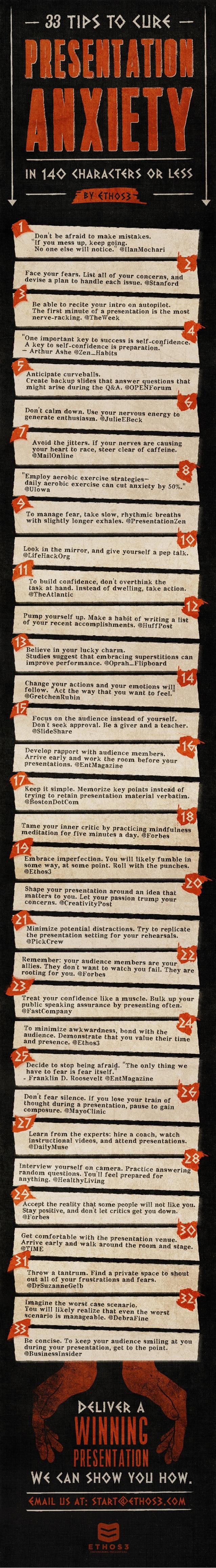 33 consejos para curar la ansiedad en 140 caracteres