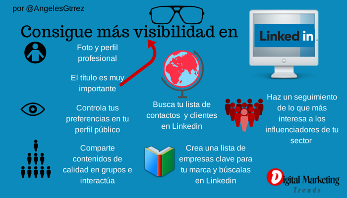 Consigue más visibilidad en Linkedin