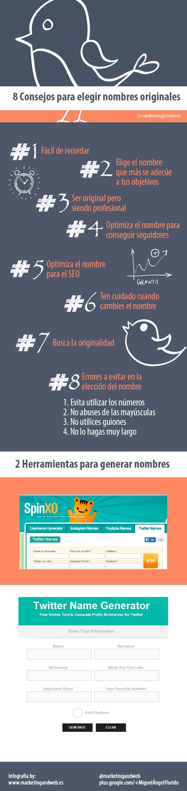8 consejos para elegir el nombre en Twitter