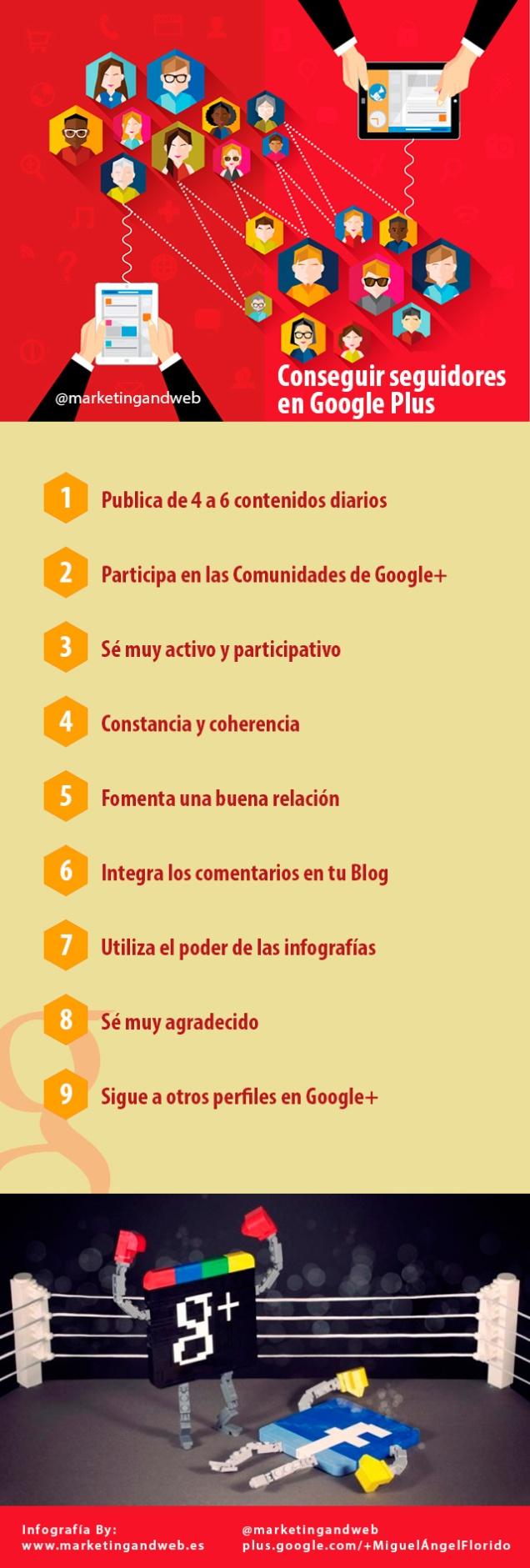 Cómo conseguir seguidores en Google +