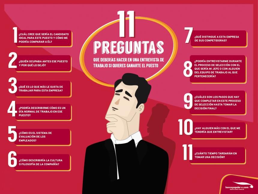11 preguntas que debes hacer en una entrevista de trabajo