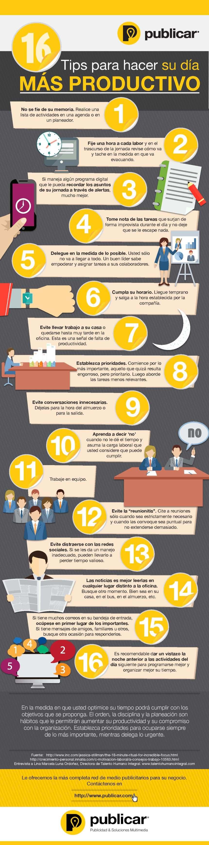 16 consejos para ser más productivo