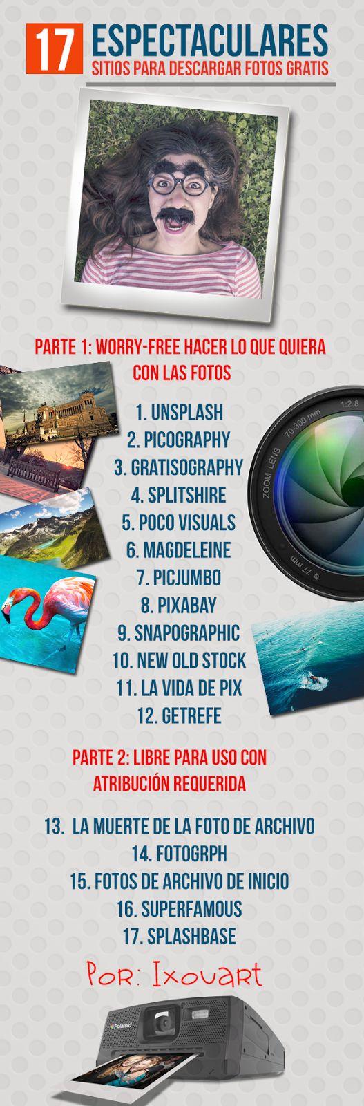 17 espectaculares sitios para descargar Fotos Gratis