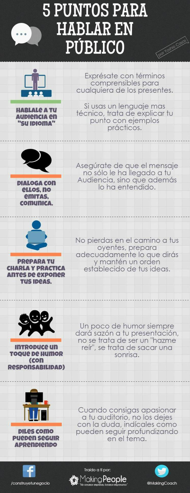 5 consejos para hablar en público