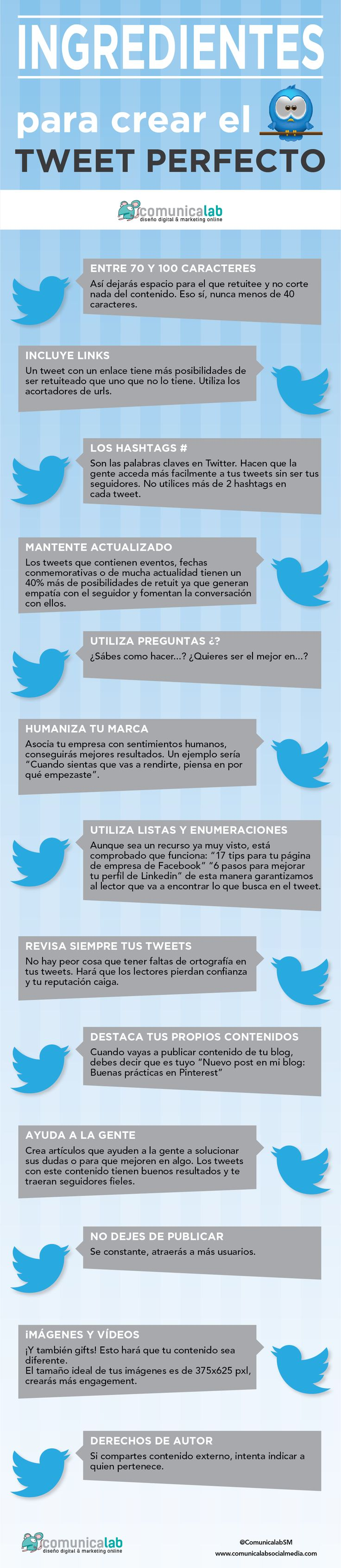 Los ingredientes del tweet perfecto
