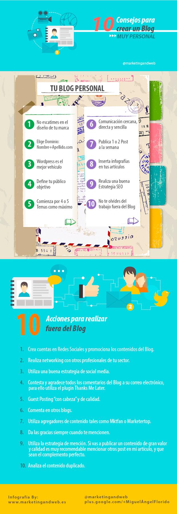 10 consejos para crear un blog muy personal