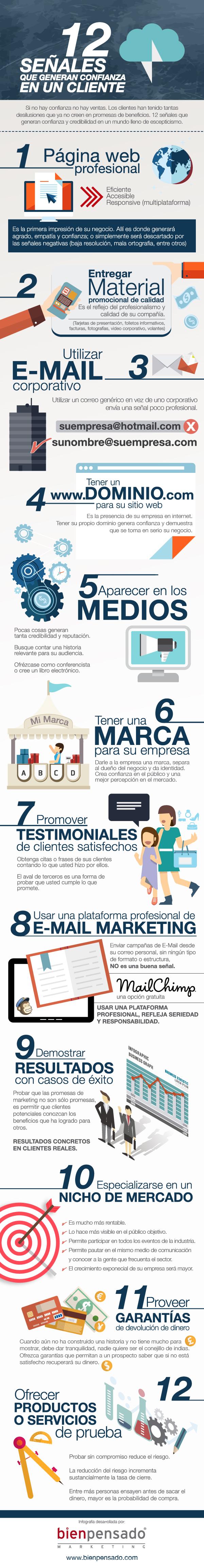 12 señales que generan confianza en un cliente