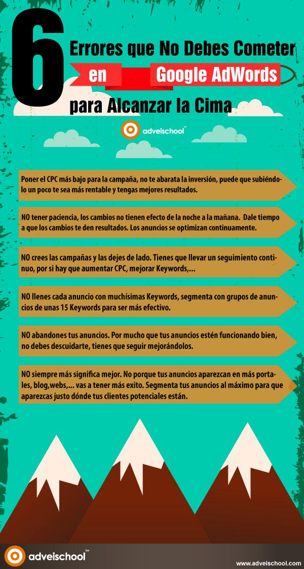 6 errores que no debes cometer en Google AdWords